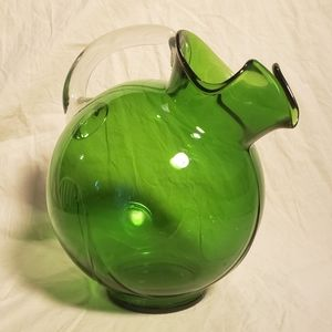 Vintage Blown Glass Tea/Lemonade Pitcher